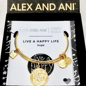 ALEX & ANI + Gift Live a Happy Life Bangle
